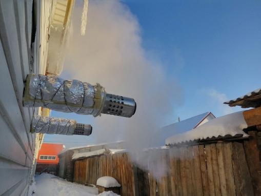 Обмерзает коаксиальный дымоход
